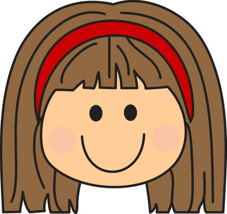 appreciated: This cute girl is perfect to add a special note to how much they are appreciated. Illustration