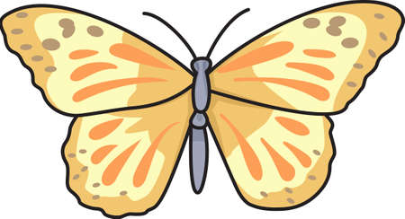 pupa: This beautiful butterfly is perfect for your springtime design showing that nature is forever changing and evolving.  Another cute image from Great Notions. Illustration
