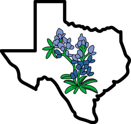 bluebonnet: Everyone loves Texas!  Show your pride for the Lone Star State with this design from Great Notions.