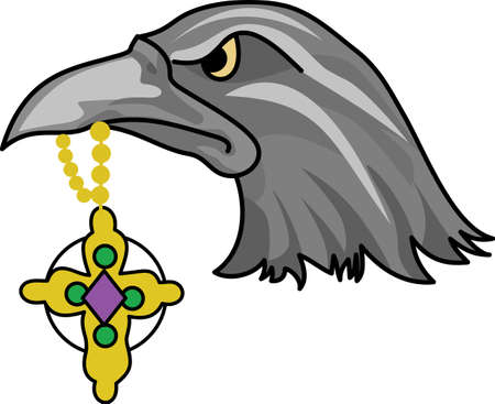 bird  celtic: Show your team spirit with this Ravens logo.  Everyone will love it! Illustration