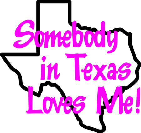 lone: Everyone loves Texas!  Show your pride for the Lone Star State with this design from Great Notions.