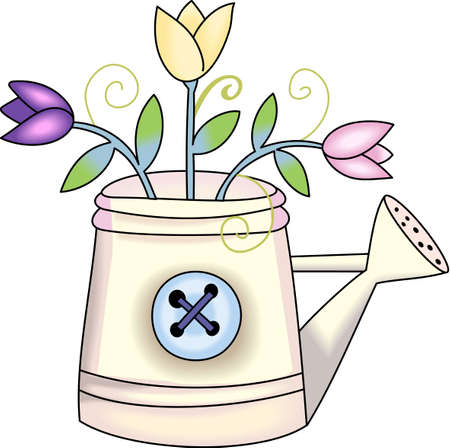 Do you know someone who loves to garden  Send them flowers.  They will love these forever flowers! Ilustracja