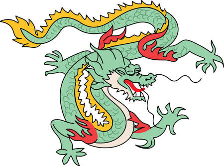 The year of the dragon is part of the Chinese heritage.  Add this really awesome design to a shirt or hat. Ilustração