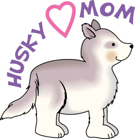 huskies: Send your friends these cute puppy designs! Its sure to bring a smile! Illustration