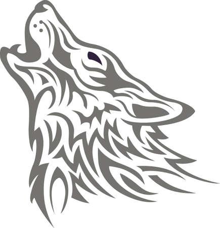 狼の強さはパックと、パックの強度はオオカミ。  イラスト・ベクター素材