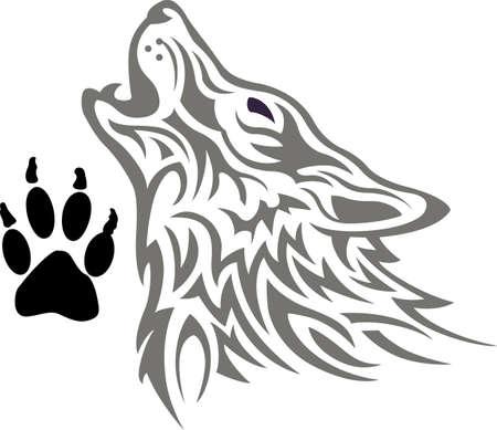 De kracht van de wolf is de roedel en de kracht van de roedel is de wolf. Stock Illustratie