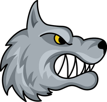 Time to cheer for the team with this wolf mascot design.  A perfect design for all the fans from Great Notions. Çizim