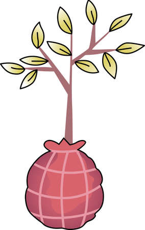 saplings: Show your love for mother Earth.  Send this to someone you know who need reminding what they can do to help the environment.  They will love it! Illustration