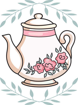 Its time for tea  to solve everything.  Give this to someone who needs cheering up.  They will love it! Illustration