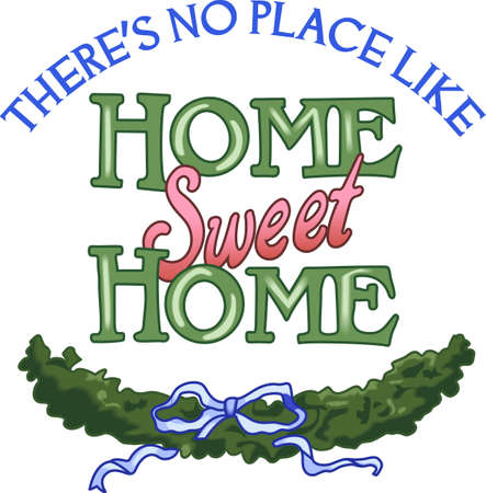 a bough: Home is where the family is with peace and harmony.  Have this gift ready to welcome home your child from camp this summer.  They will love it.