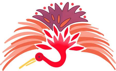 La grue japonaise est un bel oiseau. Ce sera parfait pour un cadeau. Banque d'images - 45056549