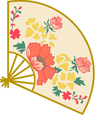 japanese fan: The Japanese fan is a beautiful design.  It will be perfect for a gift.