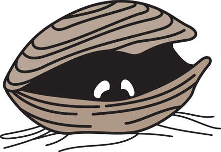 This cute clam with eyes if perfect for a nursery.  Add this design for the nautical theme.