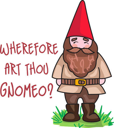 When the gardener is away, the gnomes will play.  This is the perfect design for your gardener.  They will love it!