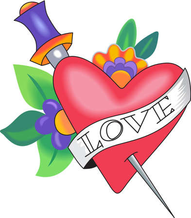 Send this beautiful heart for Valentines day.  She will love it Illusztráció