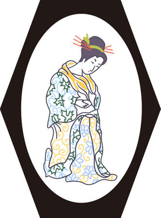 japanese woman: The Japanese woman is a beautiful design.  It will be perfect for a gift.