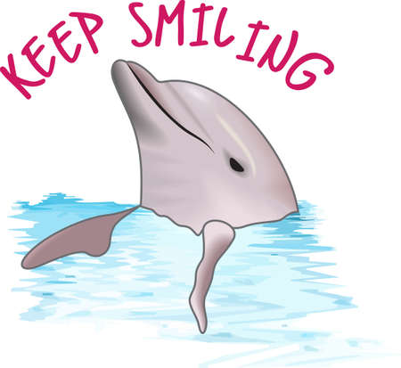 porpoise: Send this cute dolphin to a child or child at heart.  They will love it! Illustration