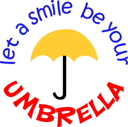 brolly: Life isnt about waiting for the storm to pass, its about learning to dance in the rain!  Give this to someone who needs cheering up.  They will love it! Illustration