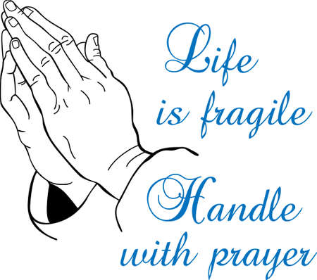 praying hands: You entrust your religious teachings a pastors unending service and prayer to help others.  This design is perfect for thanking them! They will love it! Illustration