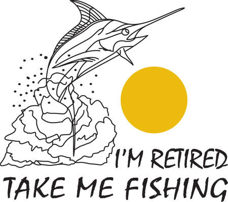 sportfishing: Dont forget this cute design when you go fishin.  This design is perfect to take with you when you go.  Everyone will love it!