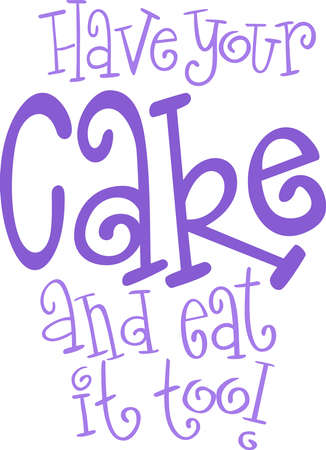 notions: A cake design is perfect for your kitchen.  Get these designs from Great Notions. Illustration