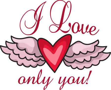 This a beautiful design of a heart and wings that will be beautiful to add to a shirt or vest.