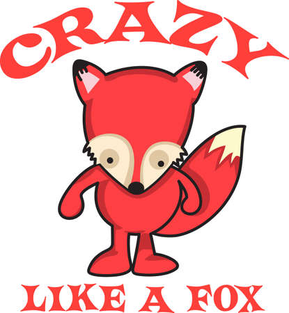 The red fox is small and mighty.  Give this cute fox for a gift.  They will love it! 向量圖像