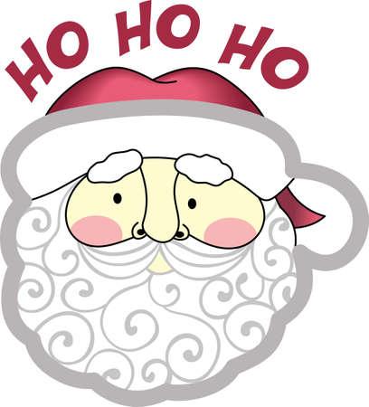 De Kerstman komt door de schoorsteen vanavond, dus vergeet niet om uw kousen op te hangen! Stock Illustratie