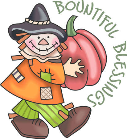 bounty: Un espantapájaros es una decoración perfecta caída. Obtener estos diseños de grandes nociones.
