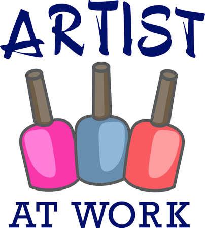manicurista: Muestre su orgullo para su talento para su sal�n de u�as. Es el anuncio perfecto. Cada uno amar� este dise�o de grandes conceptos! Vectores