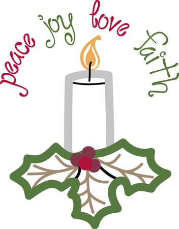 Send some Christmas cheer with this candle.  Joy, peace and love!  These make a perfect house warming gift.  They will love it!