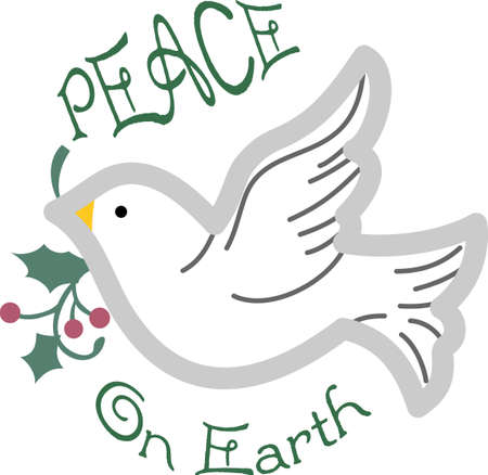 Send some Christmas cheer with these doves and hearts.  Joy, peace and love!  These make a perfect house warming gift.  They will love it!