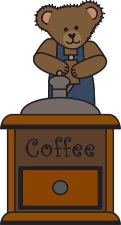 좋은 아침 햇살! 이 귀여운 곰이 커피 잔을 가져오고 있습니다. 하루 아침에 커피를 마실 필요가있는 사람들에게 완벽한 곳입니다!
