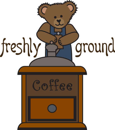 Good morning sunshine!  This cute bear is bringing your cup of coffee.  Perfect for those who need that morning cup of coffee to start the day!