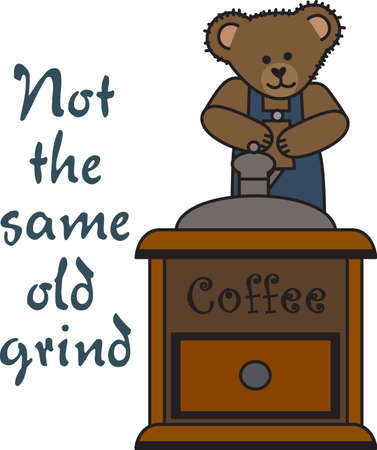 stuffed animal: Good morning sunshine!  This cute bear is bringing your cup of coffee.  Perfect for those who need that morning cup of coffee to start the day!