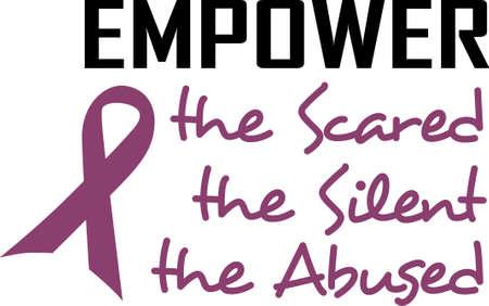 violencia familiar: Vamos a caminar por una cura! Detener la violencia dom�stica. Enviar conciencia a todos! Vectores