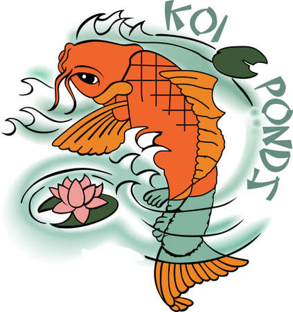 koi pond: The koi is a symbol of a persons ability to have high expectations and for happiness.  This is a beautiful  design from Great Notions.