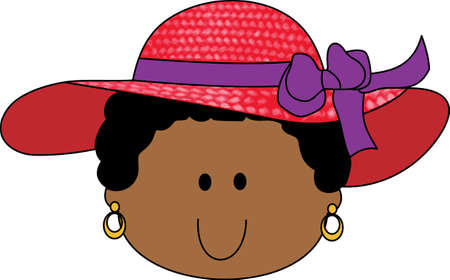 red hat: Grandma has hattitude with her red hat society.  Its great to be 50 with this design from Great Notions. Illustration
