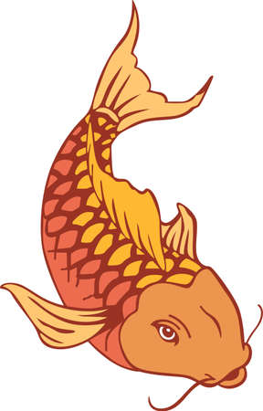 nishikigoi: The koi is a symbol of a persons ability to have high expectations and for happiness.  This is a beautiful  design from Great Notions.