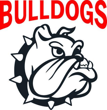 このブルドッグのロゴとチームの精神を示します。 誰もがそれを愛する!
