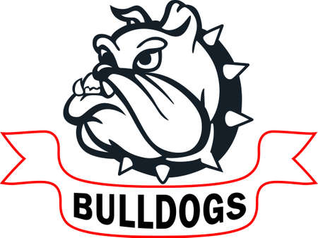Show your team spirit with this bulldog logo.  Everyone will love it! Çizim