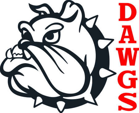 Show your team spirit with this bulldog logo.  Everyone will love it!  イラスト・ベクター素材