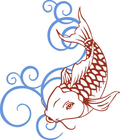 The koi is a symbol of a persons ability to have high expectations and for happiness.  This is a beautiful  design from Great Notions.