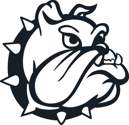 Show your team spirit with this bulldog logo. Everyone will love it!