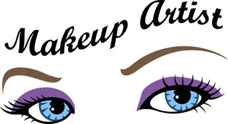 Montrez votre fierté pour votre talent pour le maquillage. Son la publicité parfaite. Tout le monde va les aimer!