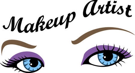 Show your pride for your talent for makeup.  Its the perfect advertisement.  Everyone will love them!