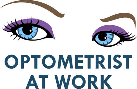 eye doctor: Its the perfect advertisement for your optometry business.  Get these designs from Great Notions. Illustration