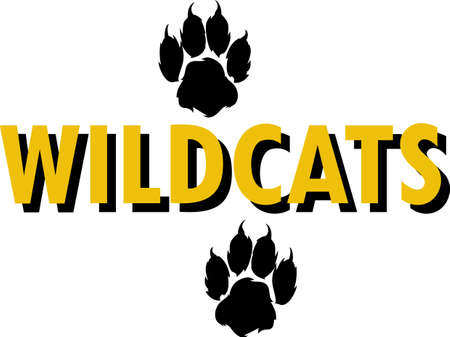 wildcat: Show your team spirit with this wildcats logo.  Everyone will love it!