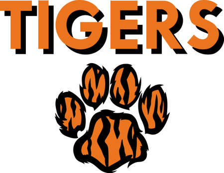pawprint: Show your team spirit with this tigers logo.  Everyone will love it!