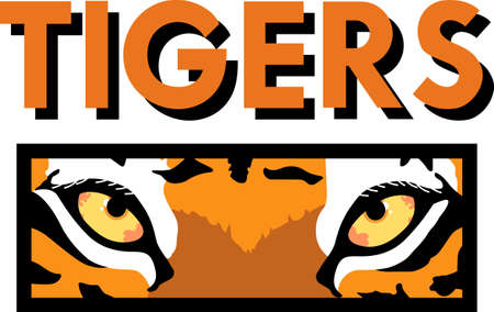 team spirit: Show your team spirit with this tigers logo.  Everyone will love it!